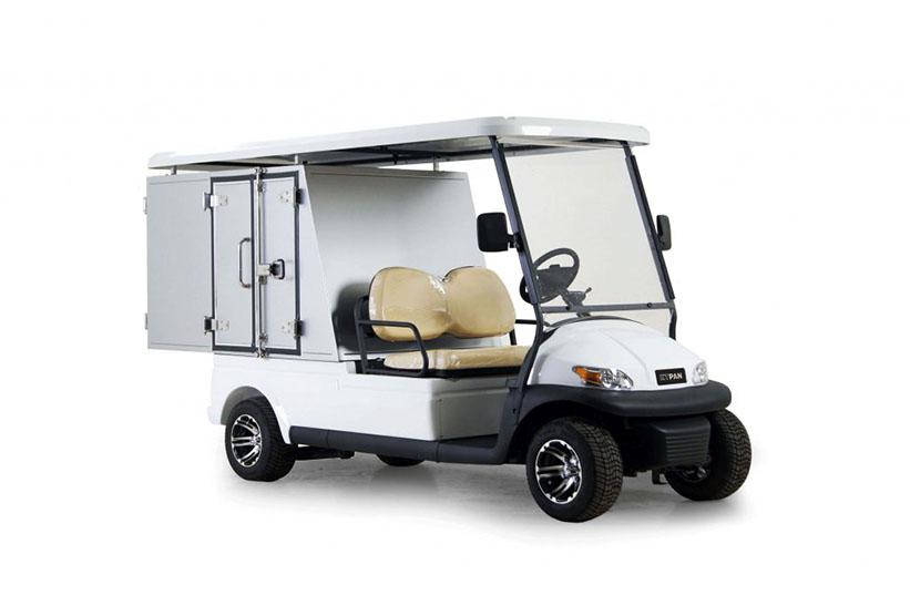 Butler-รถกอล์ฟไฟฟ้า2ที่นั่งพร้อมตู้อเนกประสงค์ด้านหลัง