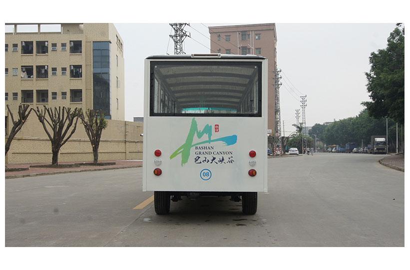 ท้ายรถบัสโดยสารไฟฟ้า มีประตู custom ktpan